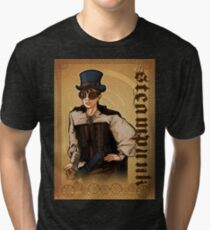 Steampunk Lady Tri-blend T-Shirt
