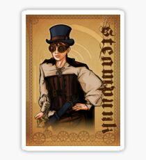 Steampunk Lady Sticker