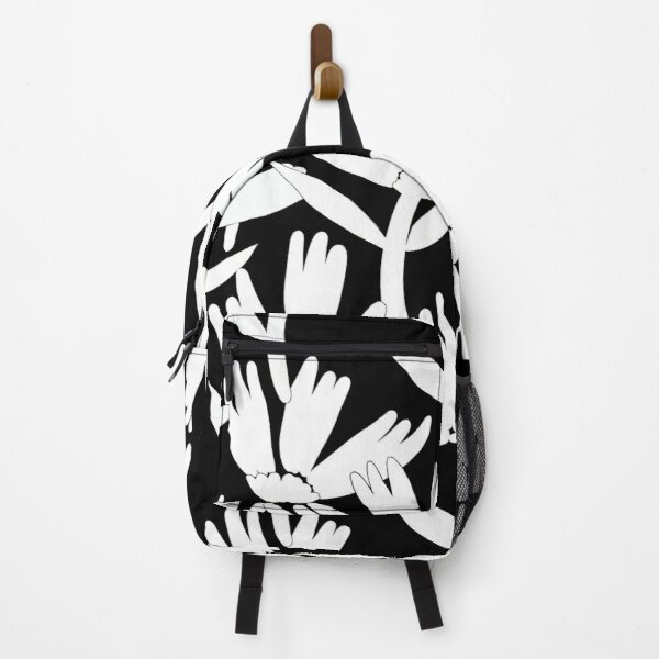 Black and white daisies Backpack