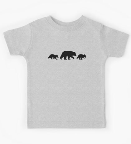 Black Bear with Cubs Kids Clothes