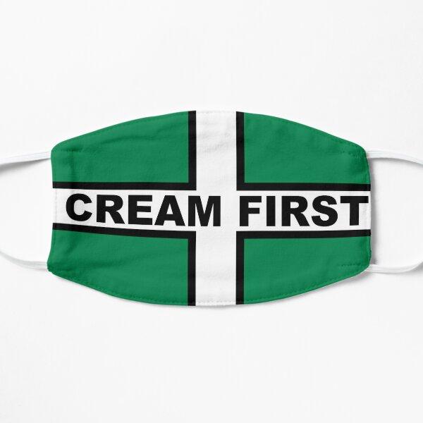 Cream First Devon Flag of Saint Petroc Statement T-Shirt, Poster, Sticker, Print, poster etc Flat Mask