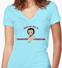 Annie: Teach Me How To Understand Christmas Women's Fitted V-Neck T-Shirt