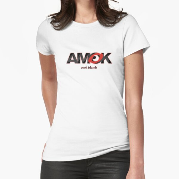 AMOK - cook islands Fitted T-Shirt