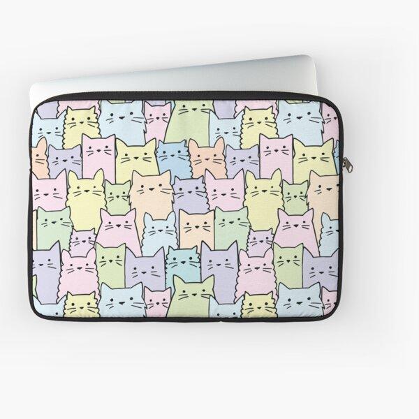 Silent Cats Pastel Laptop Sleeve