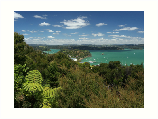 Russell.....from Flagstaff Hill, Bay of Islands, New Zealand. by Roy  Massicks
