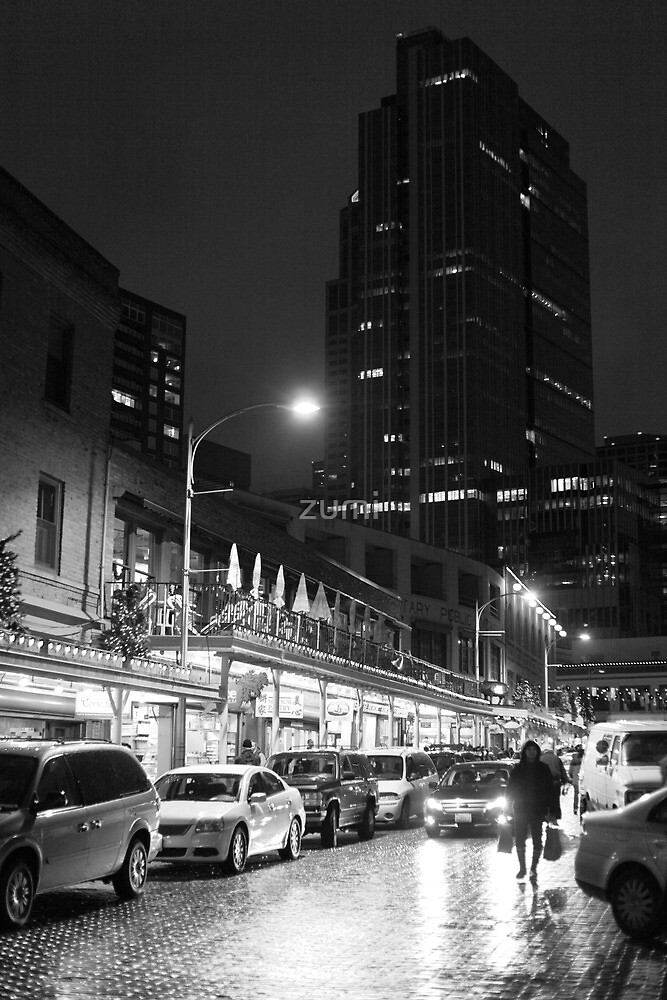 Night market (B&W) by zumi