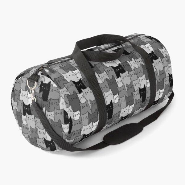 Silent Cats Monochromatic Duffle Bag