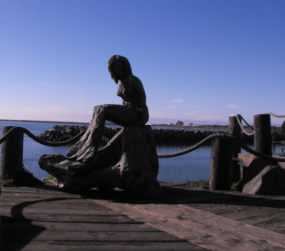 Mermaid, enjoys the nice day. by Carolynn Cumor