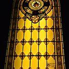 Golden window in Greve by Karen E Camilleri