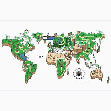 Super Mario World Map T - Shirt by jummpy