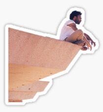 """Childish Gambino """"Over The Edge"""" Sticker"""