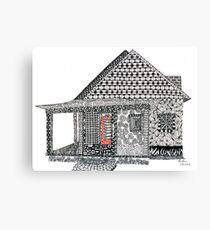 House Doodle Canvas Print