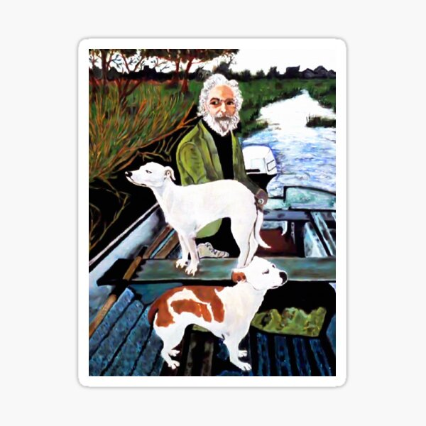 Goodfellas Dogs Painting, Artwork for Wall Art, Prints, Poster, Tshirts, Men, Women, Youth Sticker