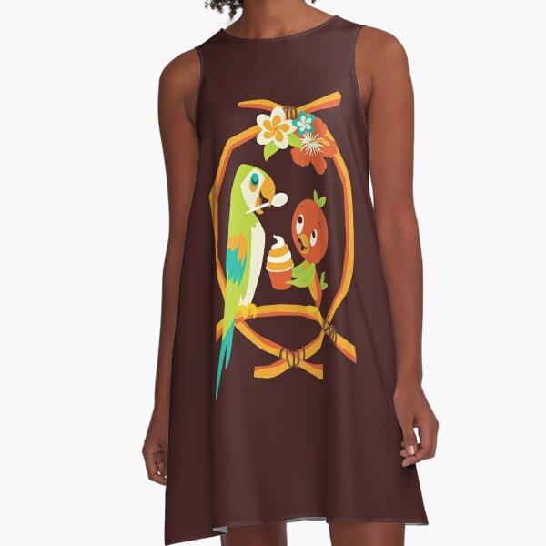 Sunshine Tree Terrace A-Line Dress