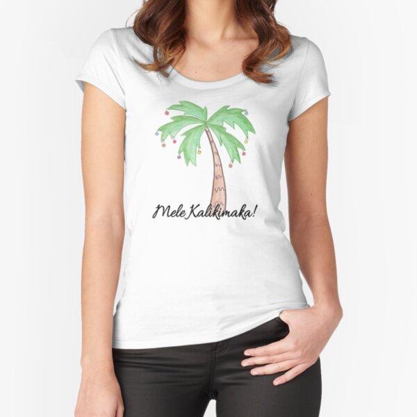 Mele Kalikimaka Fitted Scoop T-Shirt
