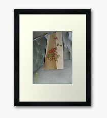 Red Roses, and bud Framed Print