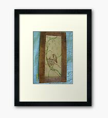 Hummer of a mom,  with birdies. Framed Print