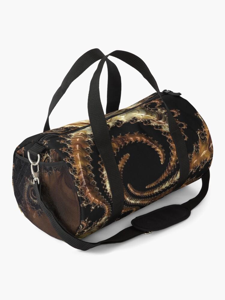 Alternate view of Golden world of wonders fractal  Duffle Bag