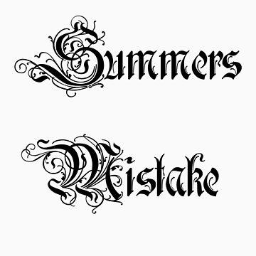 Summers Mistake Basic Logo Tee Shirt by SummersMistake