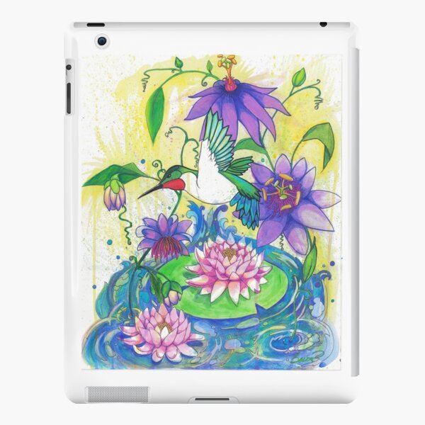 Lotus Hummingbird iPad Snap Case