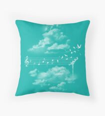 Music Gives Wings Throw Pillow