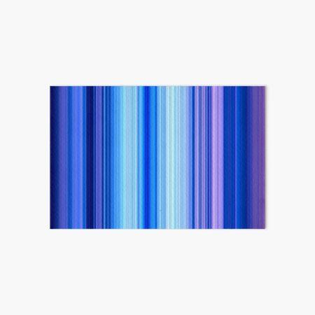 Blue and Purple Stripes Art Board Print