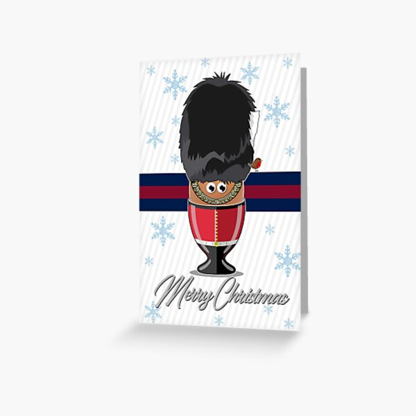 Grenadier Guards, Egg Cup, Merry Christmas Card Greeting Card