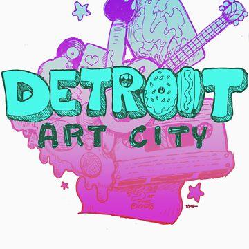 Detroit Art City (Blue) by ashurcollective