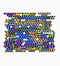 Q Cubes Photographic Print