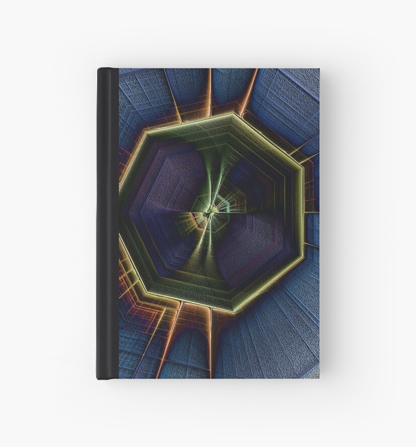 7 Cornered Fractal-Available In Art Prints-Mugs,Cases,Duvets,T Shirts,Stickers,etc by Robert Burns