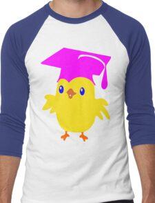ღ°ټGorgeous Blue Eyed Nerd Chick on a Graduation Cap Clothing& Stickersټღ° Men's Baseball ¾ T-Shirt