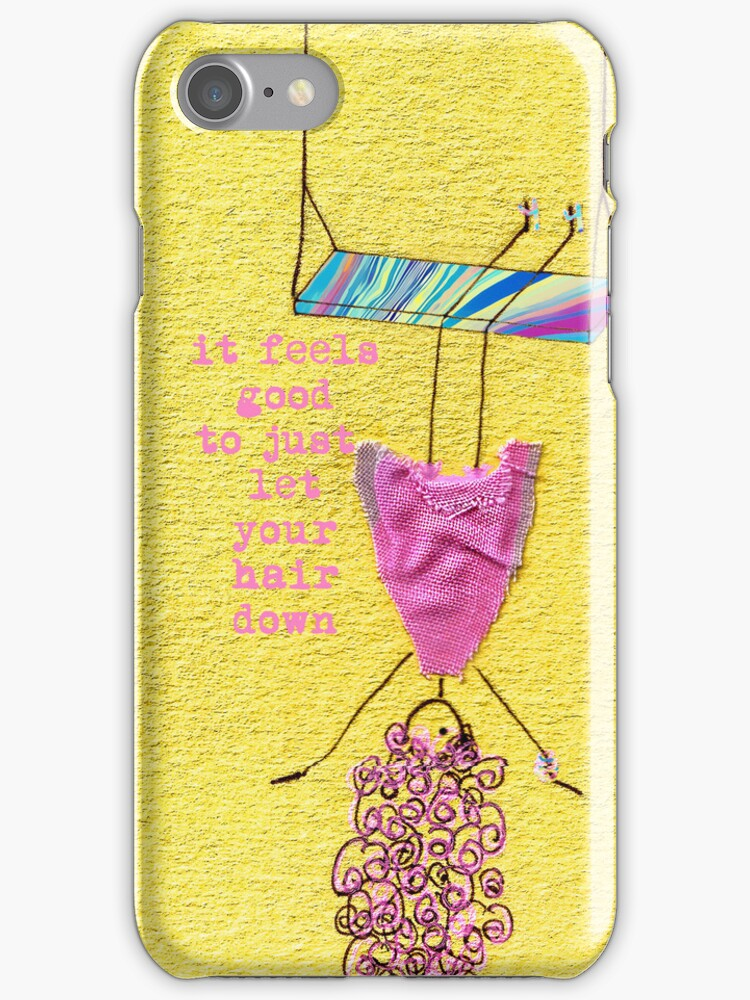 let your hair down - iphone case by Ingrid Beddoes