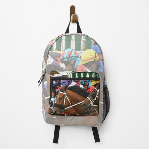 Horse racing action Backpack