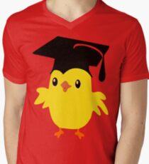 ღ°ټAdorable Nerd Chick on a Graduation Cap Clothing& Stickersټღ° Mens V-Neck T-Shirt