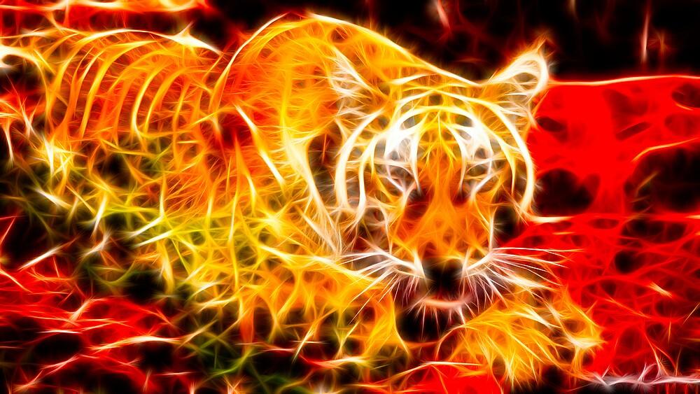 Burning Tiger by LenDames