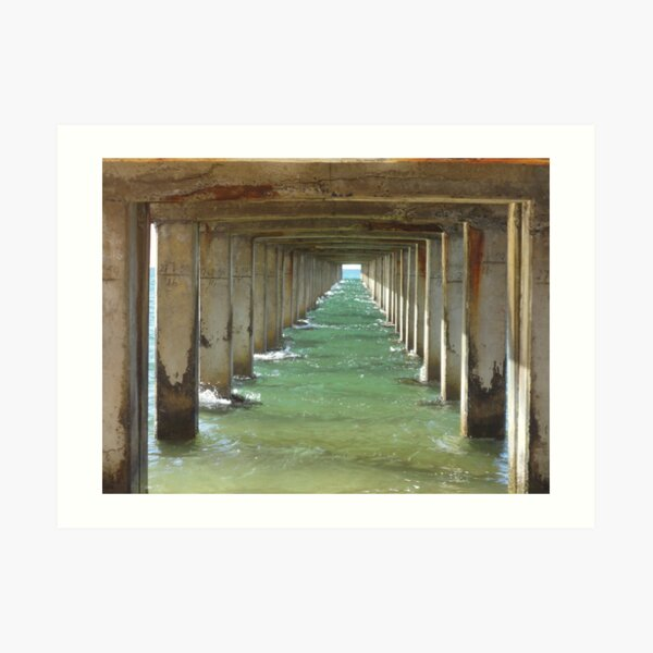 Beneath Dromana Pier Art Print