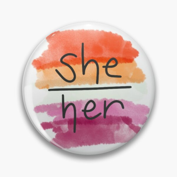 She/Her Lesbian Pin