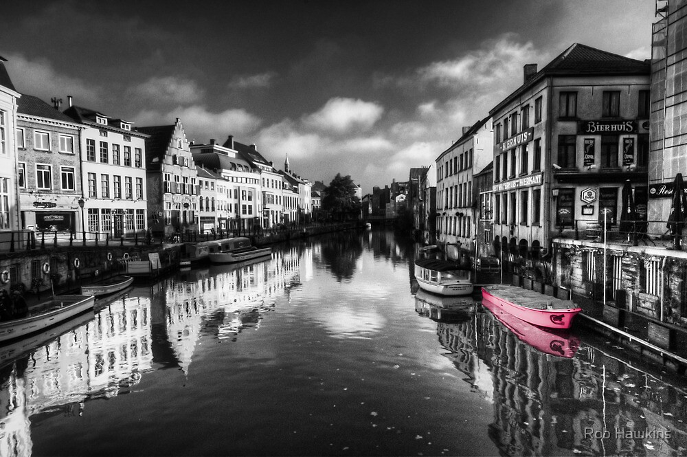 Reflections over Ghent (with pink) by Rob Hawkins