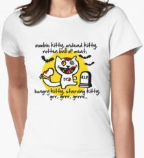 zombie kitty, undead kitty, rotten ball of meat... Women's Fitted T-Shirt