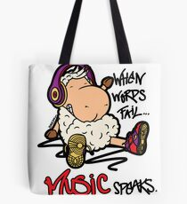Music Speaks. Tote Bag