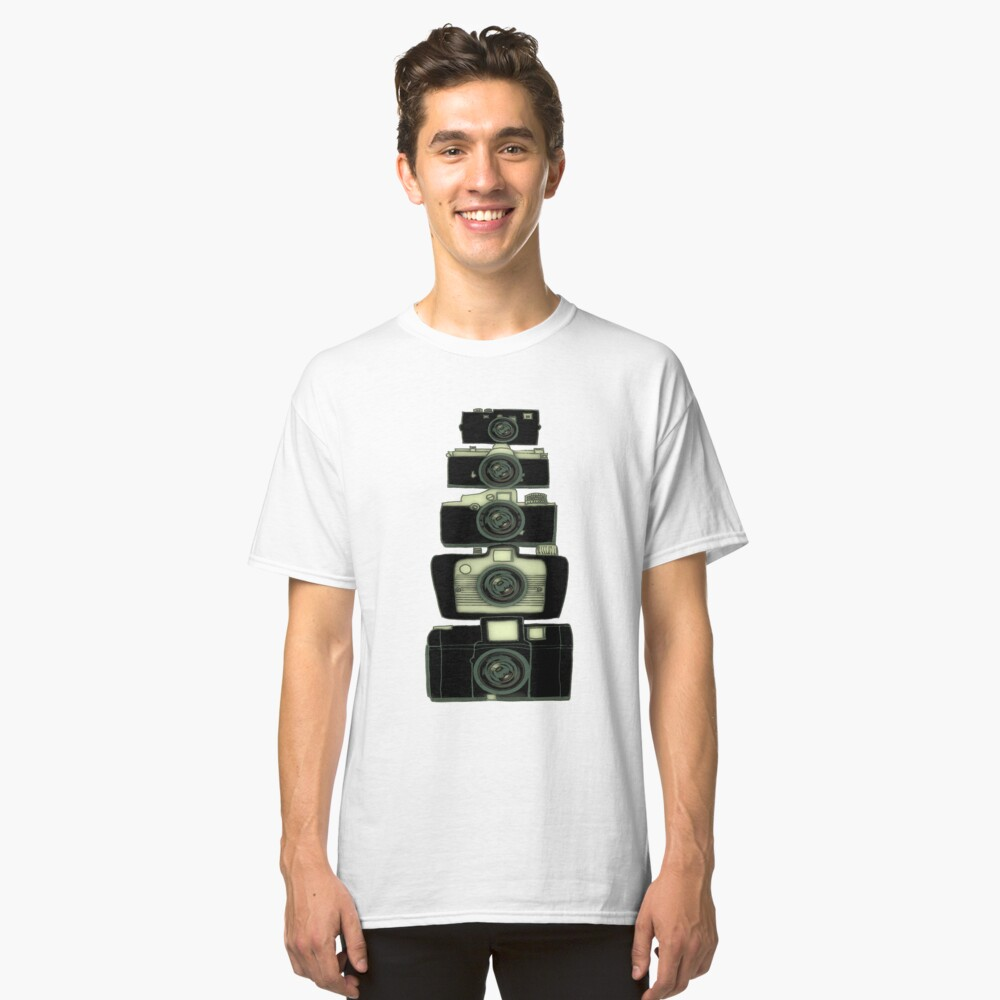 Towering cameras  Classic T-Shirt Front