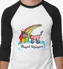The stupid unicorn loses his head Men's Baseball ¾ T-Shirt