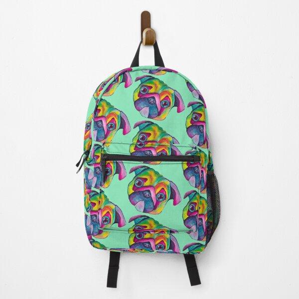 Colorful Pug Backpack