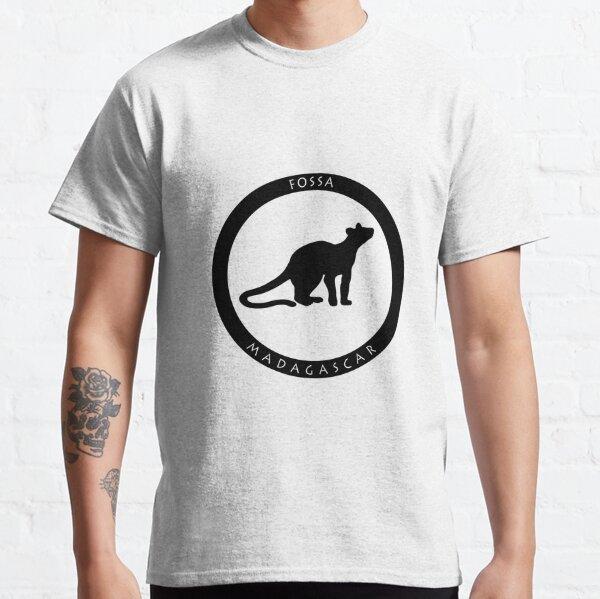 Fossa Madagascar wildlife - black print Classic T-Shirt