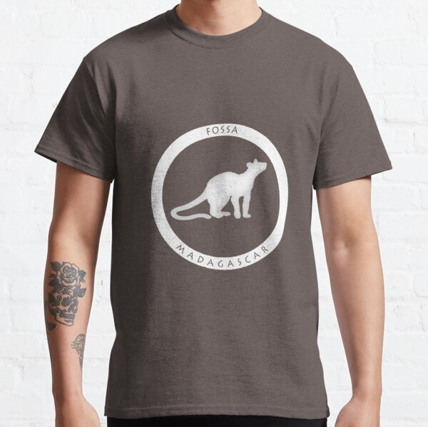 Fossa Madagascar wildlife - white print Classic T-Shirt