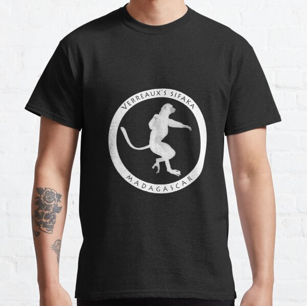 Verreaux's sifaka Madagascar wildlife - white print Classic T-Shirt