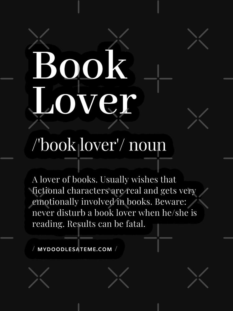 Book Lover Definition - Noun - Readers Dictionary (Black) by mydoodlesateme