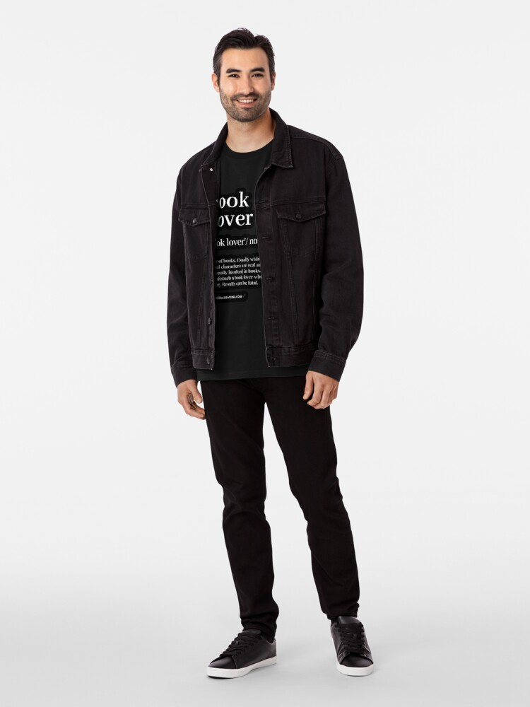 Alternate view of Book Lover Definition - Noun - Readers Dictionary (Black) Premium T-Shirt