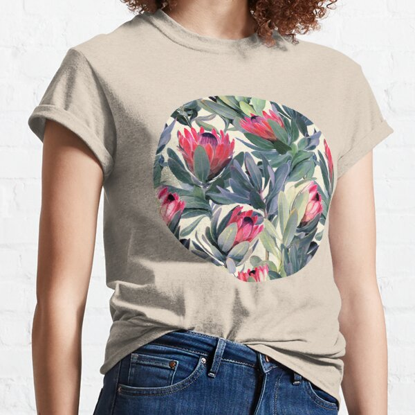 Painted Protea Pattern Classic T-Shirt