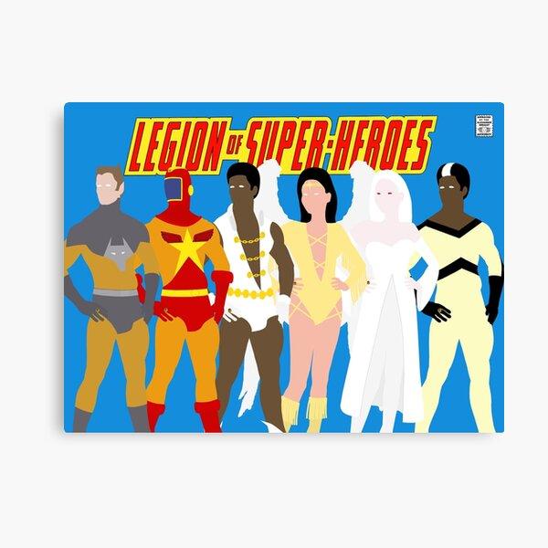 Legion of Super-Heroes Minimal 5 Canvas Print